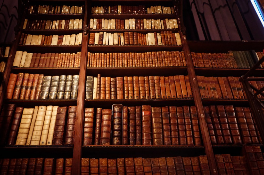 A library full of historical books